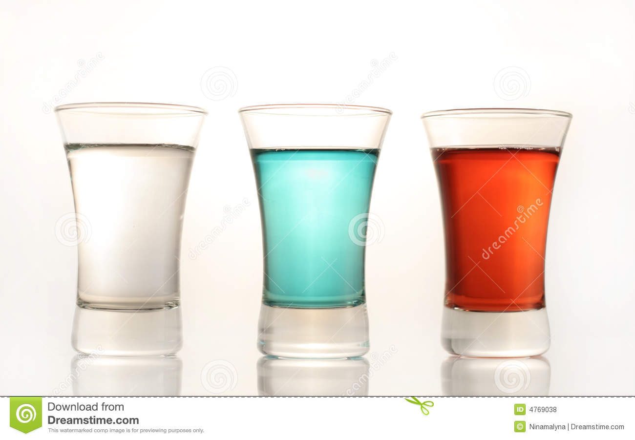 three colorful vodka shots stock photo image of alcoholic. Black Bedroom Furniture Sets. Home Design Ideas