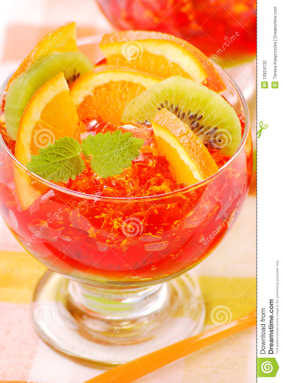 Download Three Colour Jelly With Fruits Stock Photo - Image of summer, colourfull: 10924132