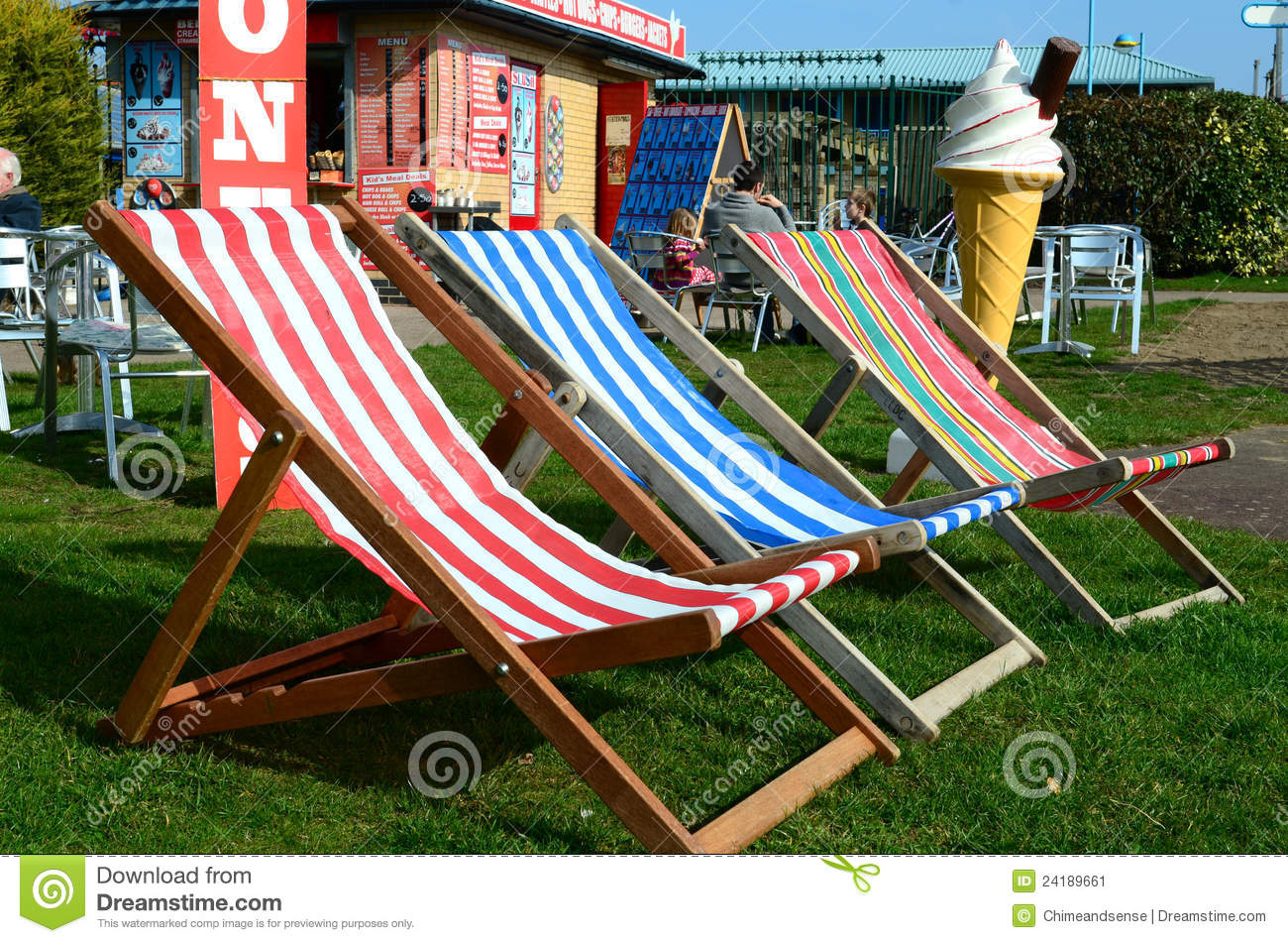 three colourful deck chairs stock images download 7 photos rh dreamstime com