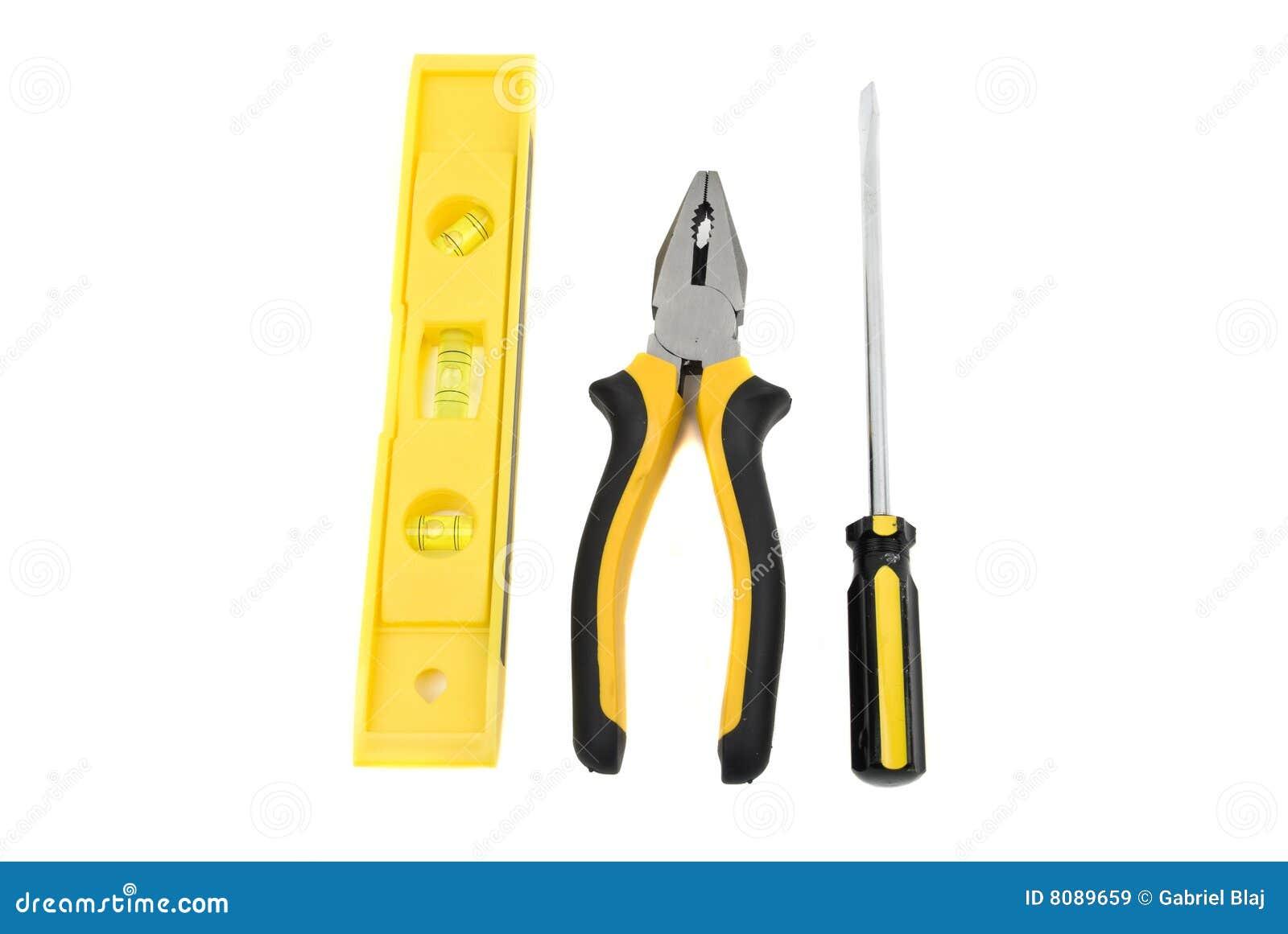 Three construction tools