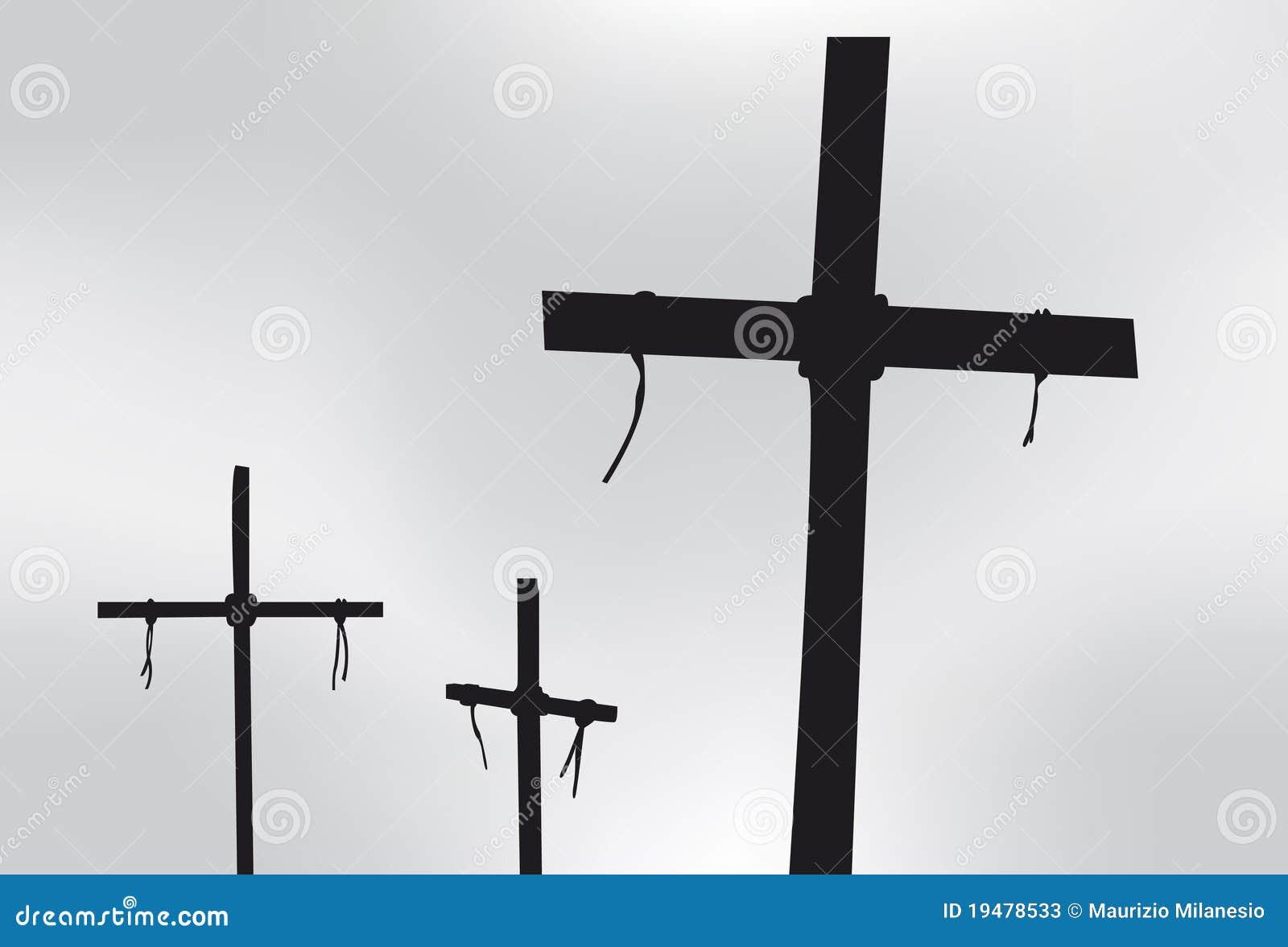 Download Three crosses stock illustration. Illustration of black - 19478533