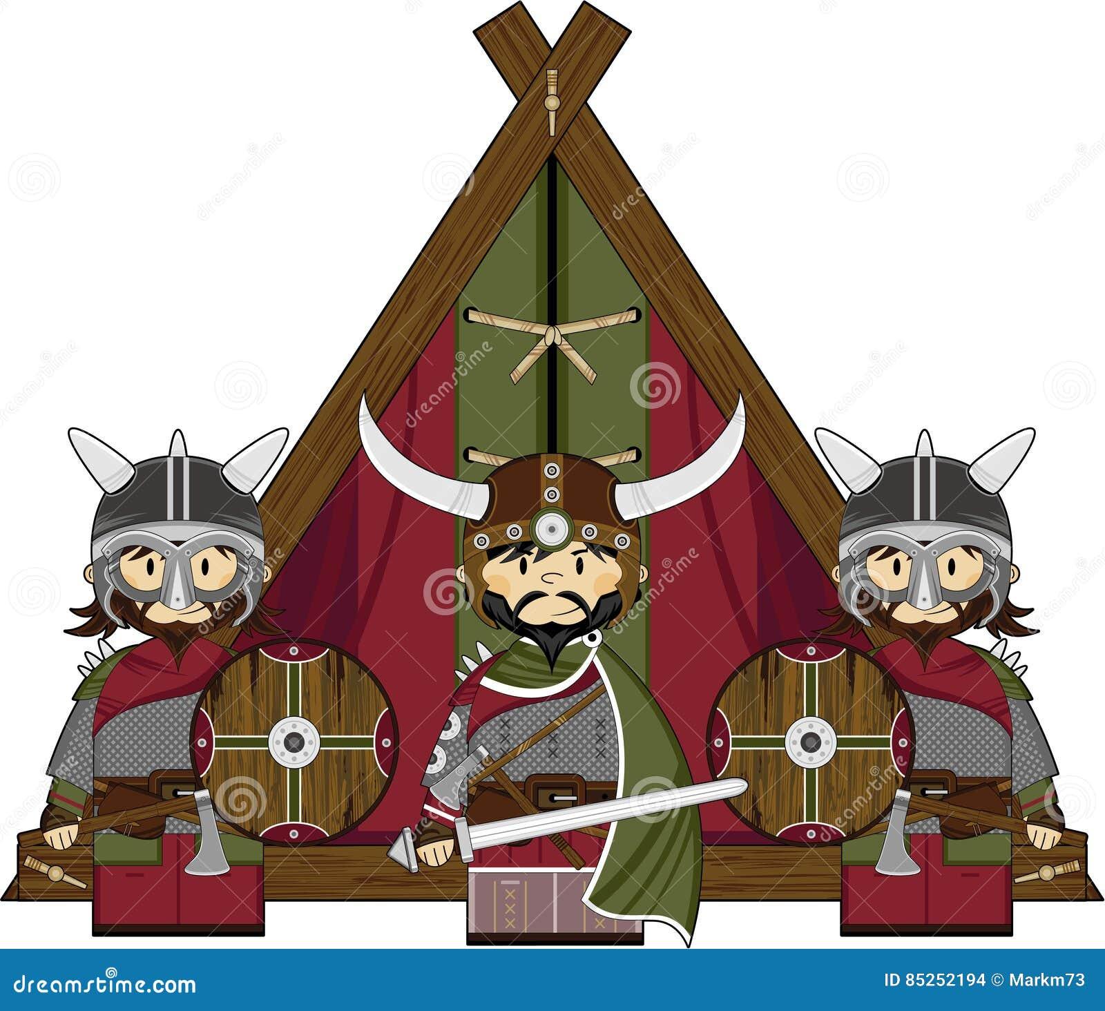 Three Cute Fierce Viking Warriors Stock Vector - Illustration of ...