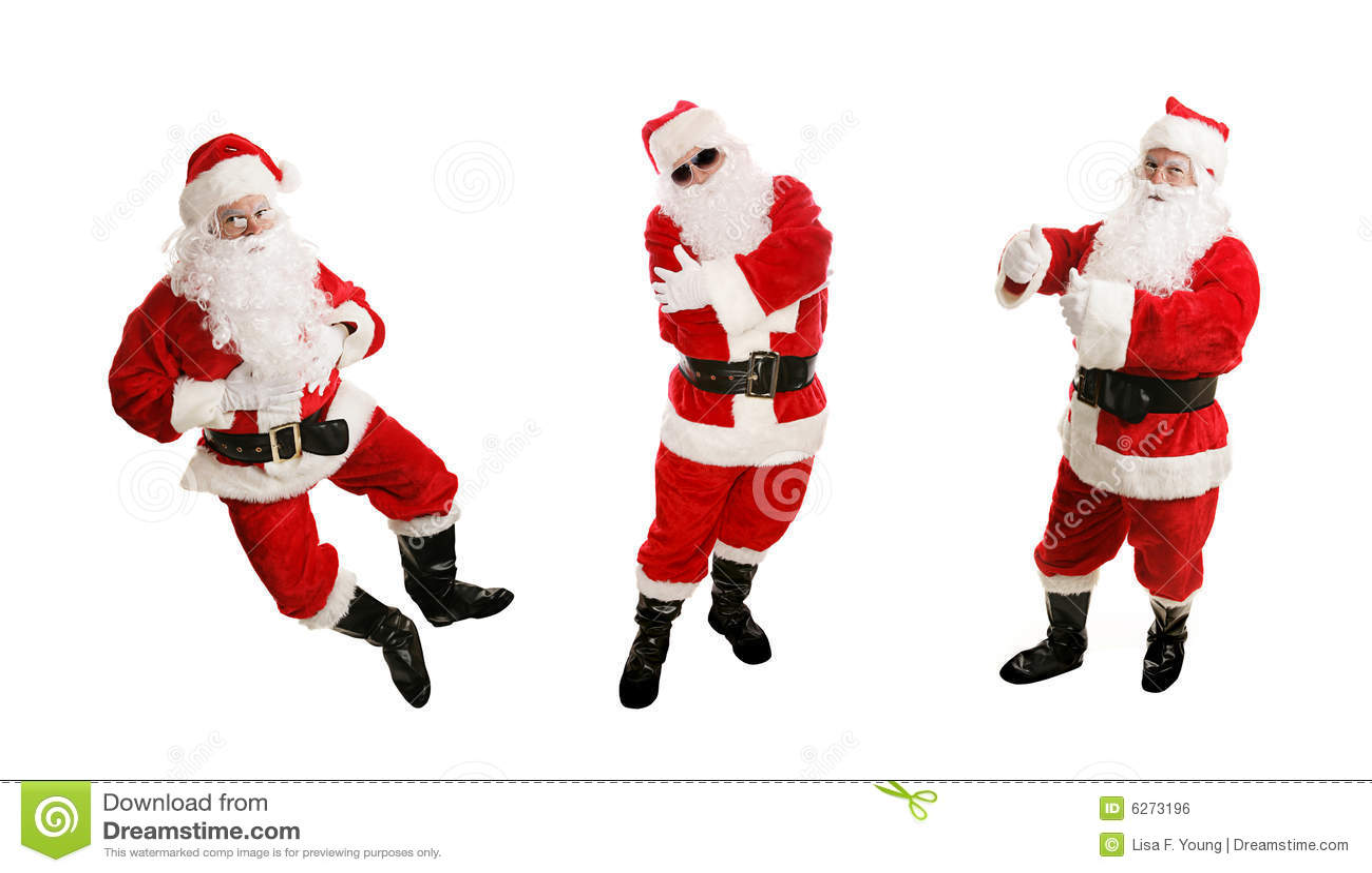 Three Dancing Santas Stock Photo Image Of Boots Full 6273196