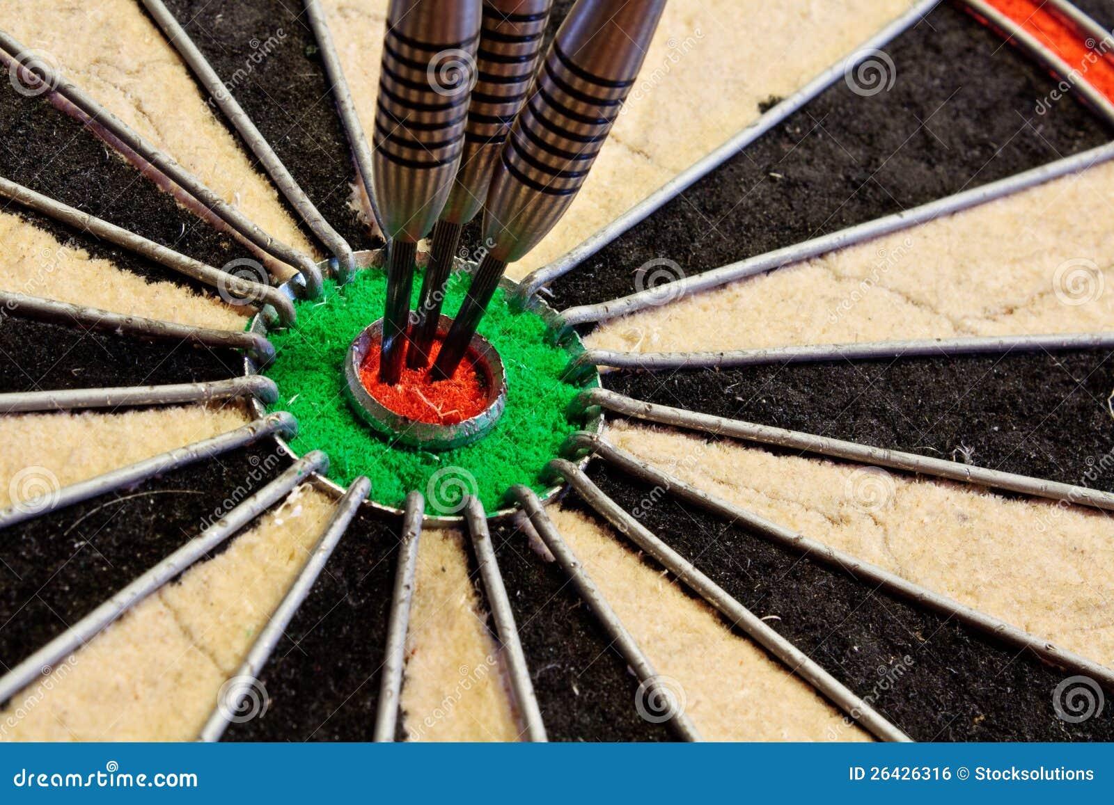 Three Darts In Bullseye Royalty Free Stock Image Image