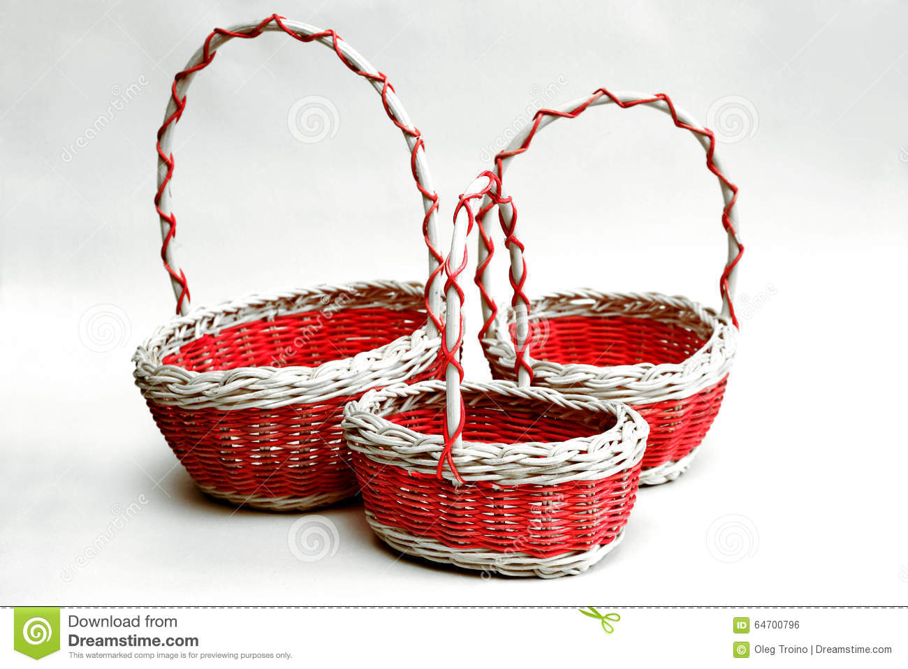 Wicker Decorative Cart With Fruits Stock Photo
