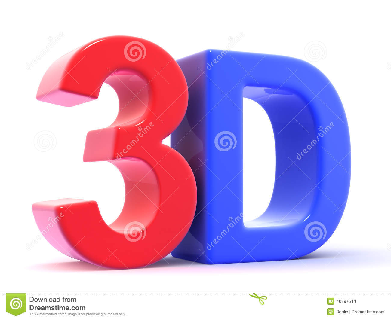 Three Dee 3d letters