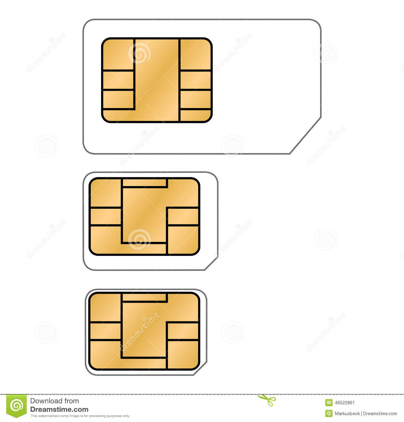 Circuit Sim Card Free Wiring Diagram For You Usb Mobile Charger Engineersgarage Three Different Types Of Cards Stock Photo Image Short Pdf