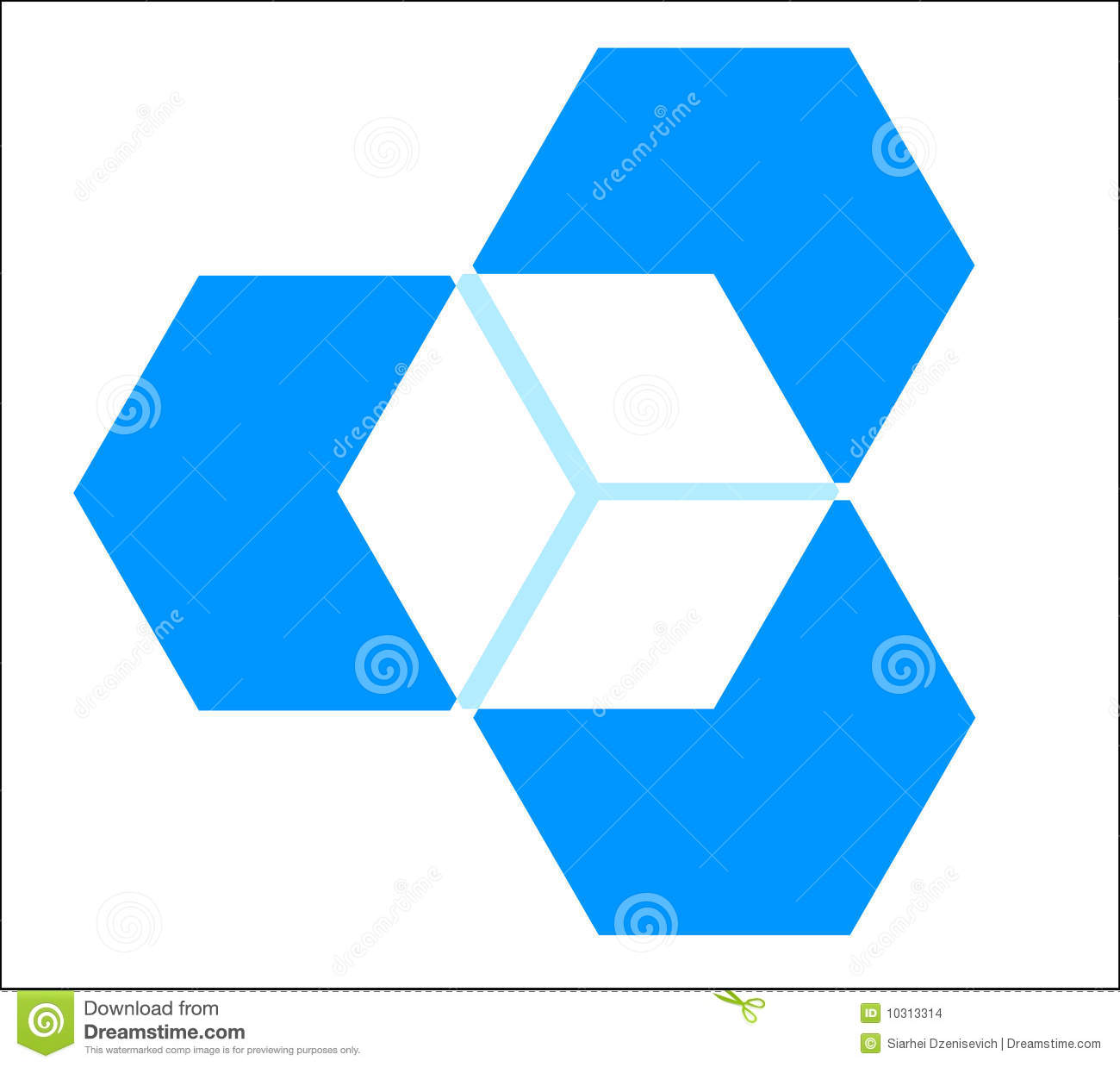 3 dimensional cube template - three dimensional cube stock images image 10313314