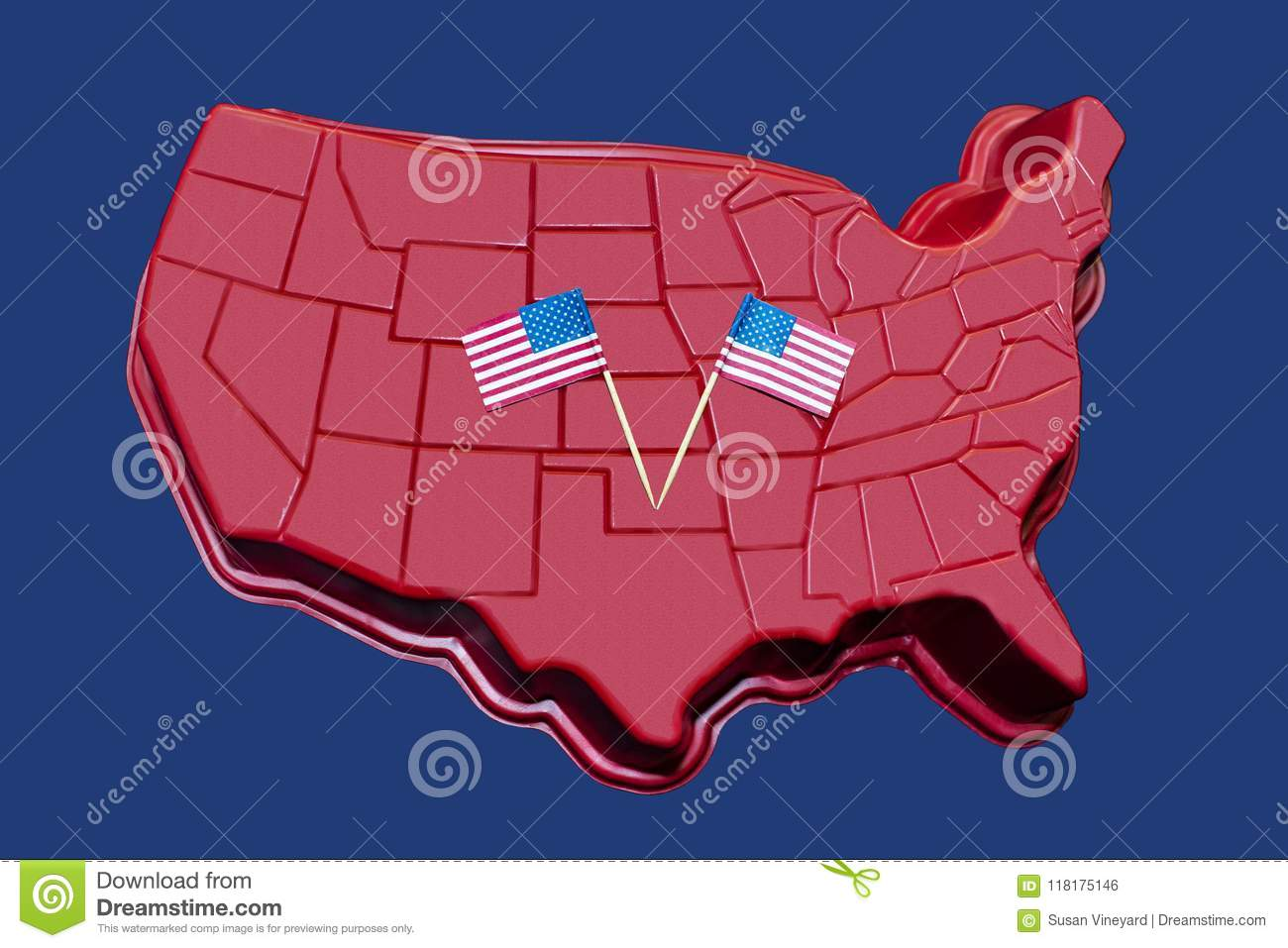 Three Dimensional Map Of The Continental US With American ...