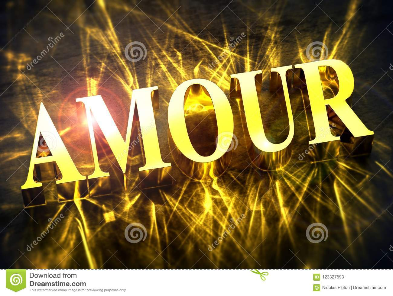 Golden Amour Word In French With Caustic Translation For Love