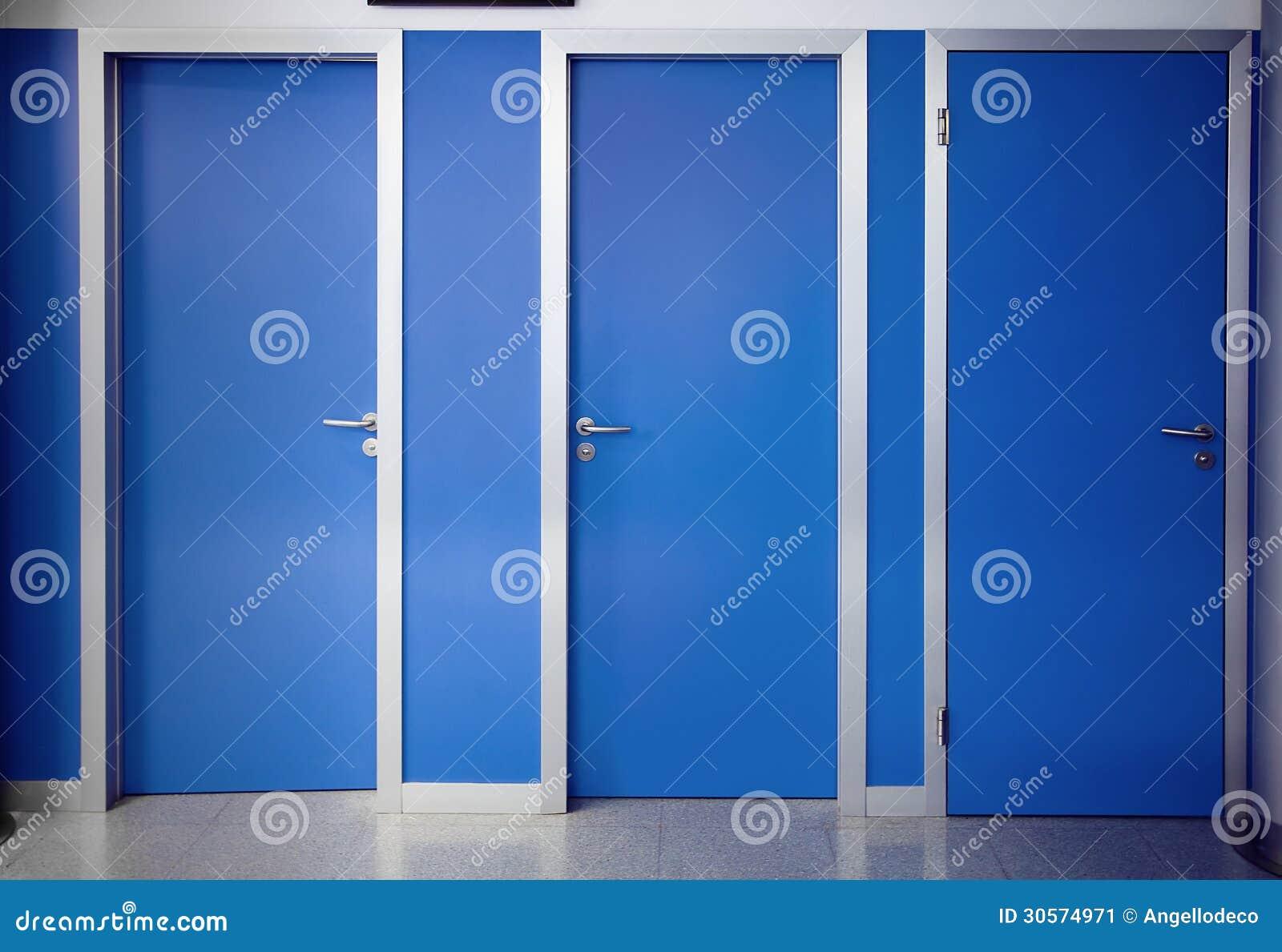 Three Doors Closed Stock Image Image 30574971