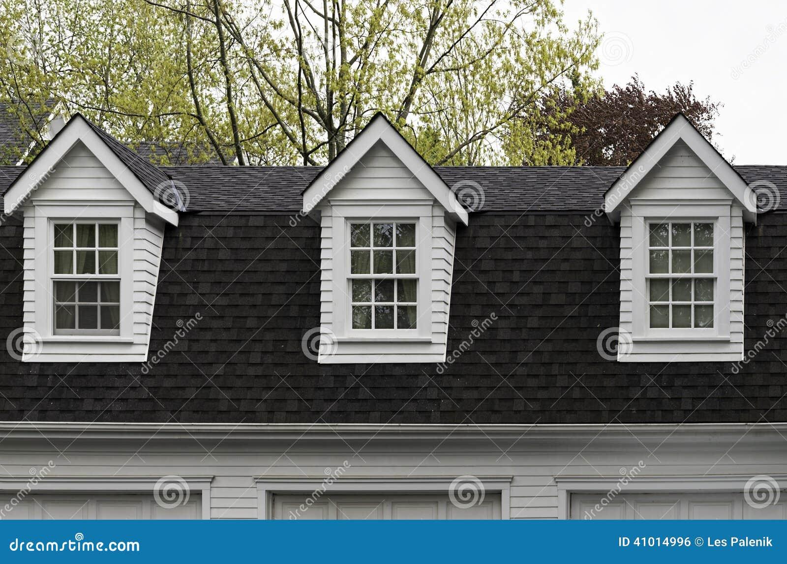 Three Dormer Windows Stock Photo Image Of Home