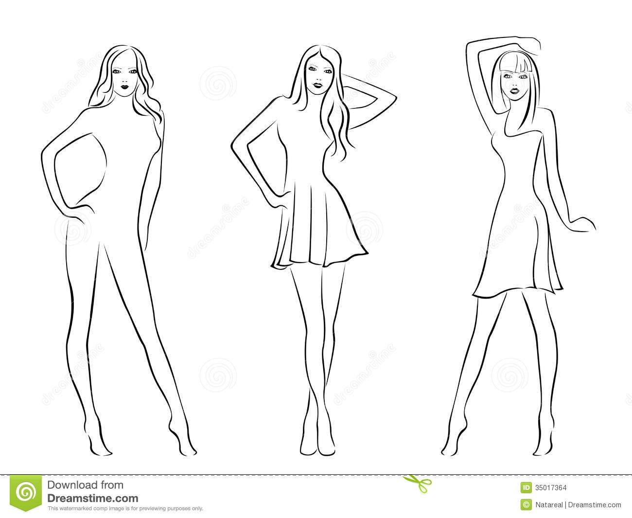 Blank Model For Fashion Design Coloring Pages Fashion Model Coloring Pages