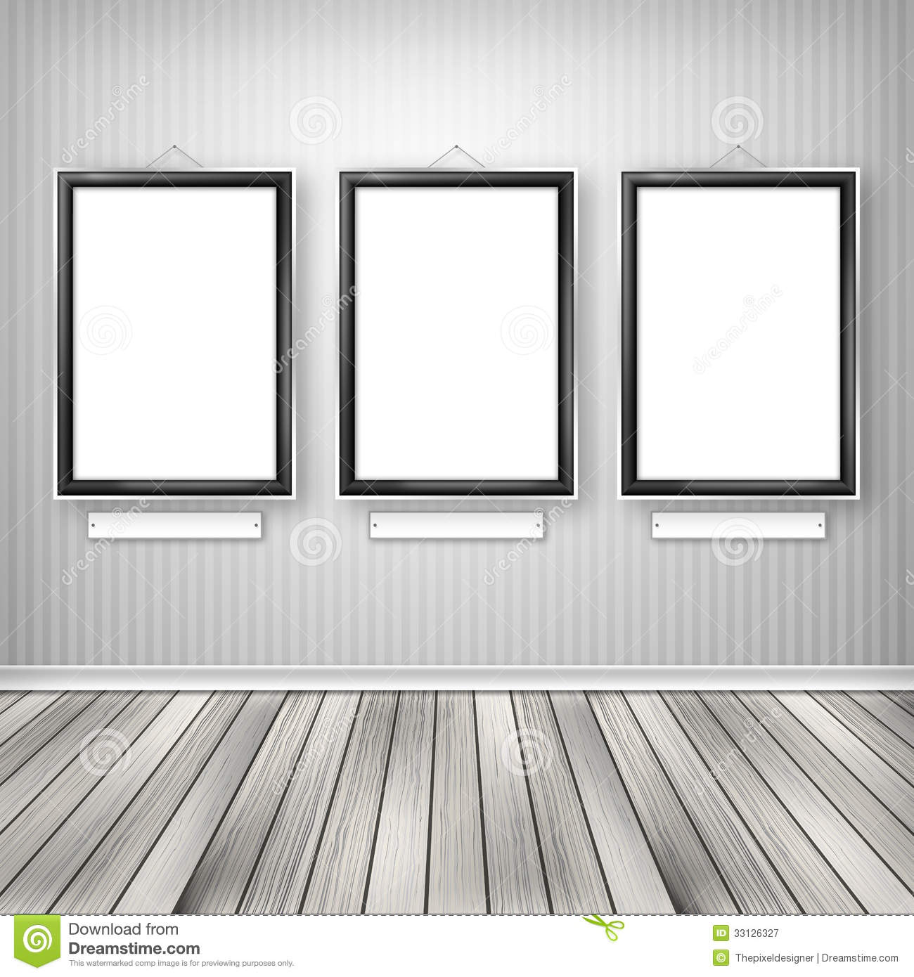 three empty frames on pic source