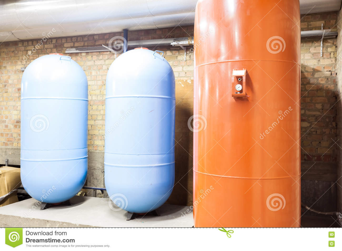 Three expansion boilers