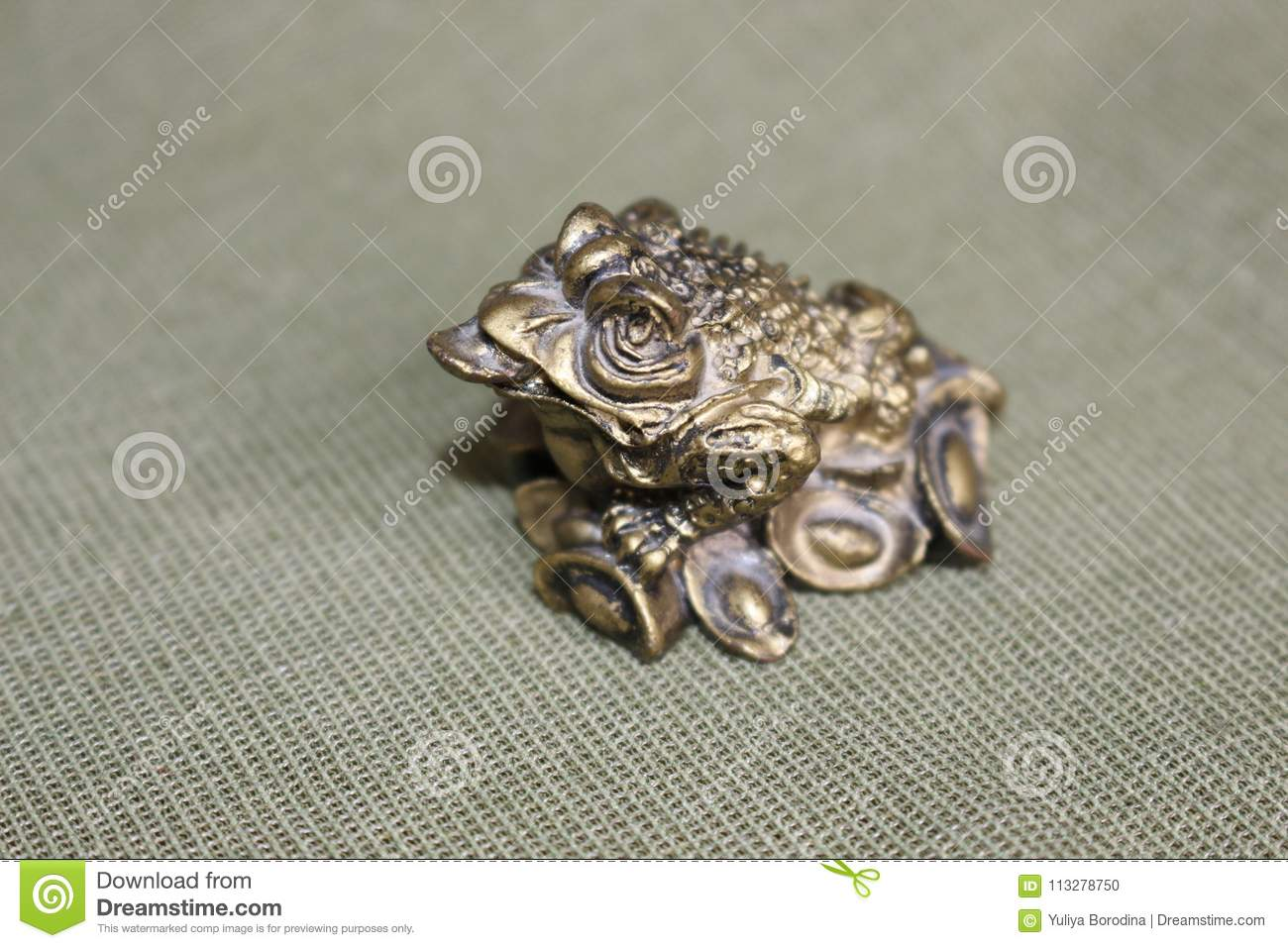 Frog symbol, bringing money, prosperity