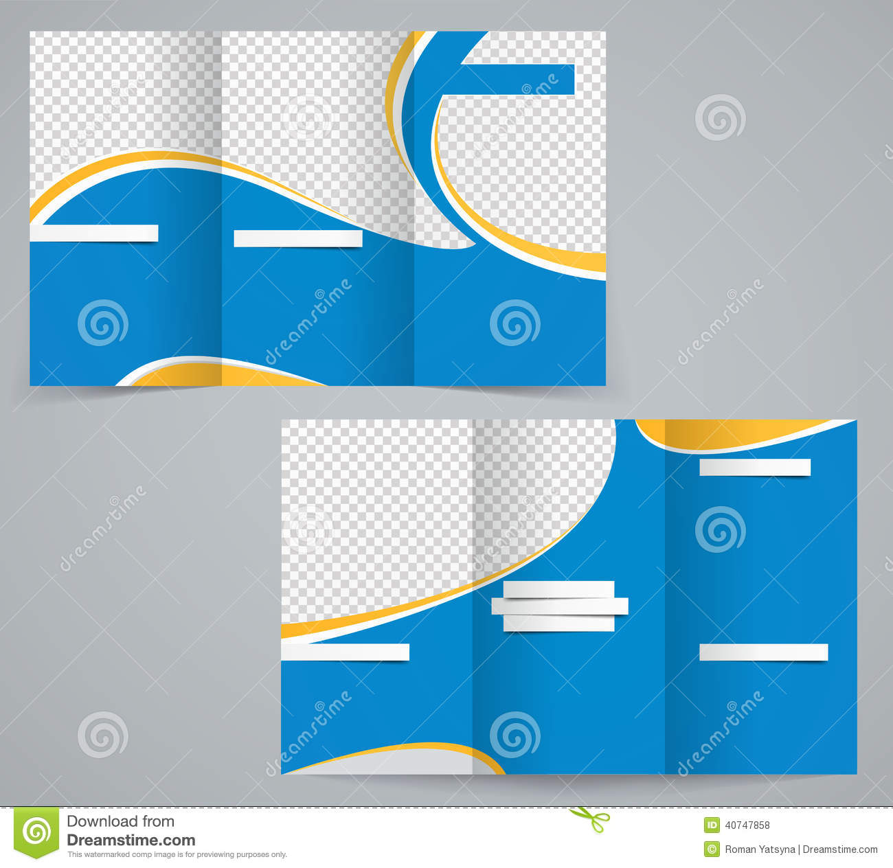 flyer design template or a magazine cover in blu stock vector three fold business brochure template corporate flyer or cover design in blue colors royalty