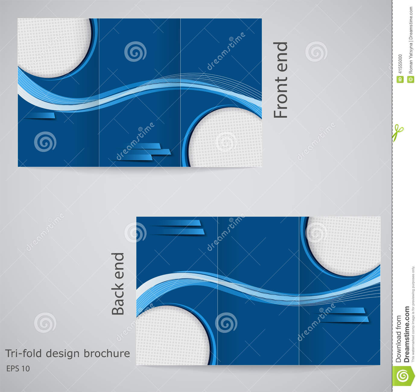 Vector Brochure Flyer Magazine Folder T Shirt Cover: Three Fold Business Brochure Template, Corporate Flyer Or