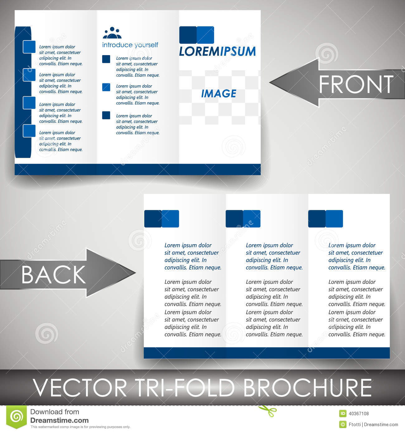 Threefold Flyer Template Corporate Brochure Or Cover Design – Three Fold Flyer Template