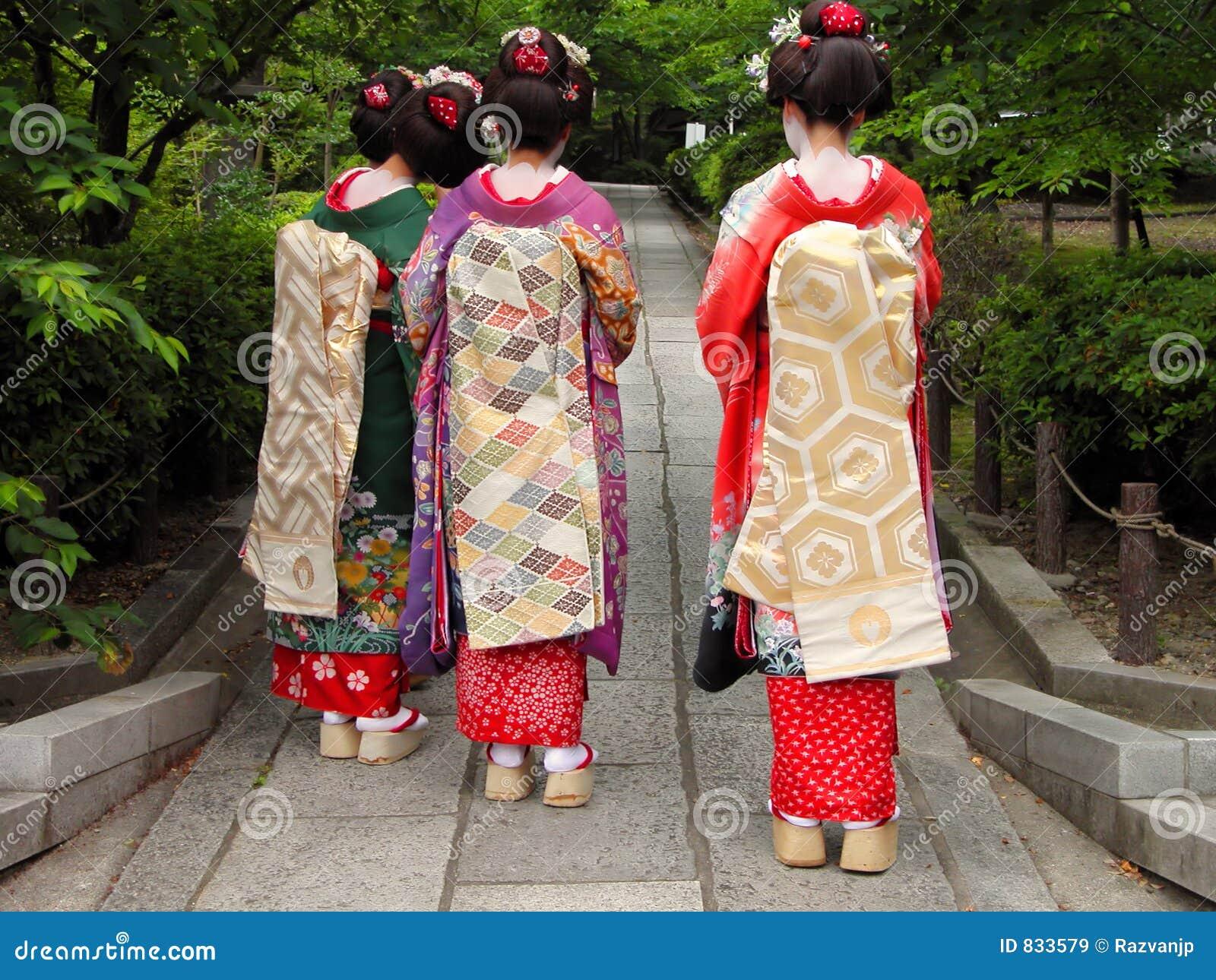 Three geisha