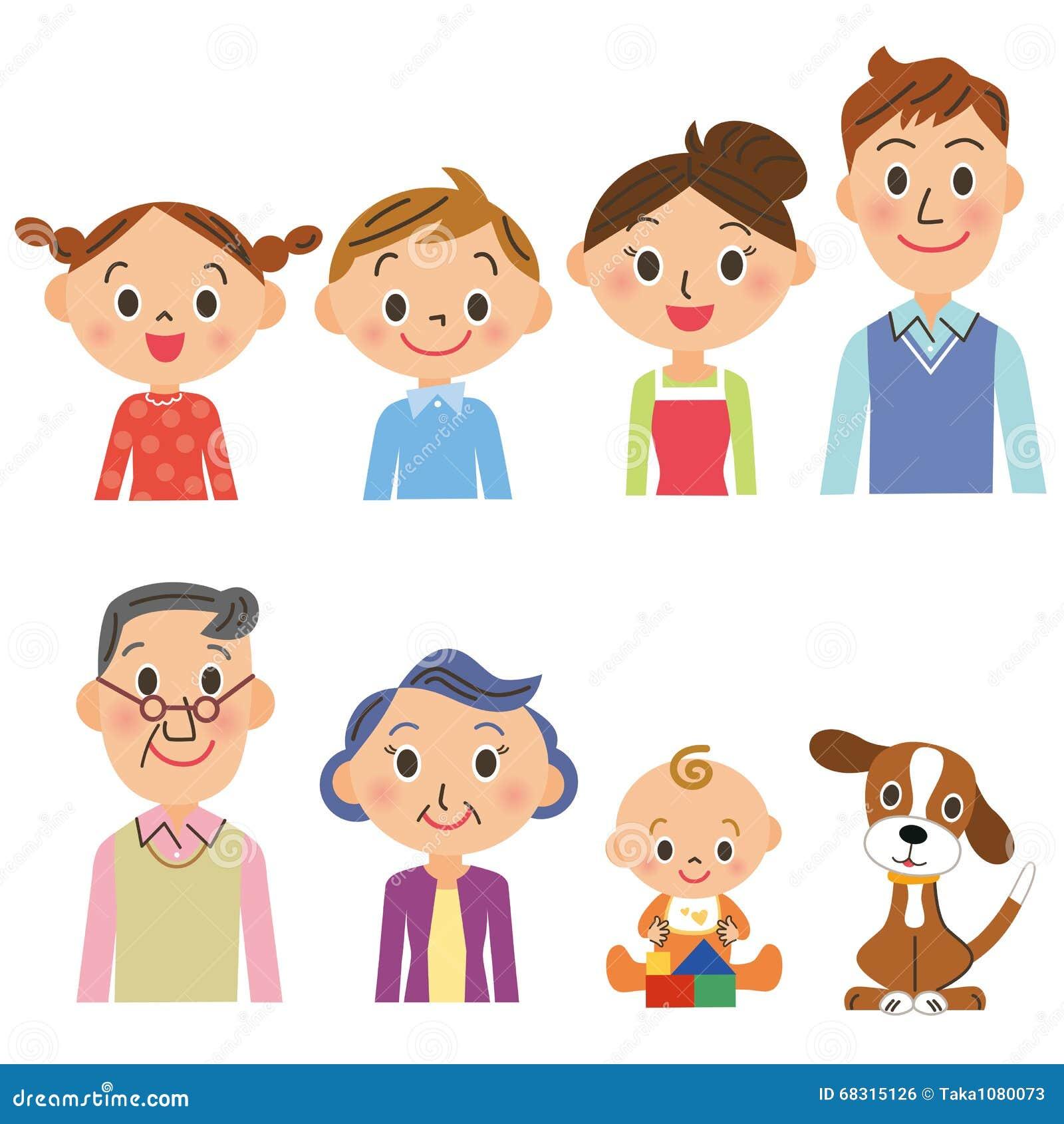 Three-generation family set