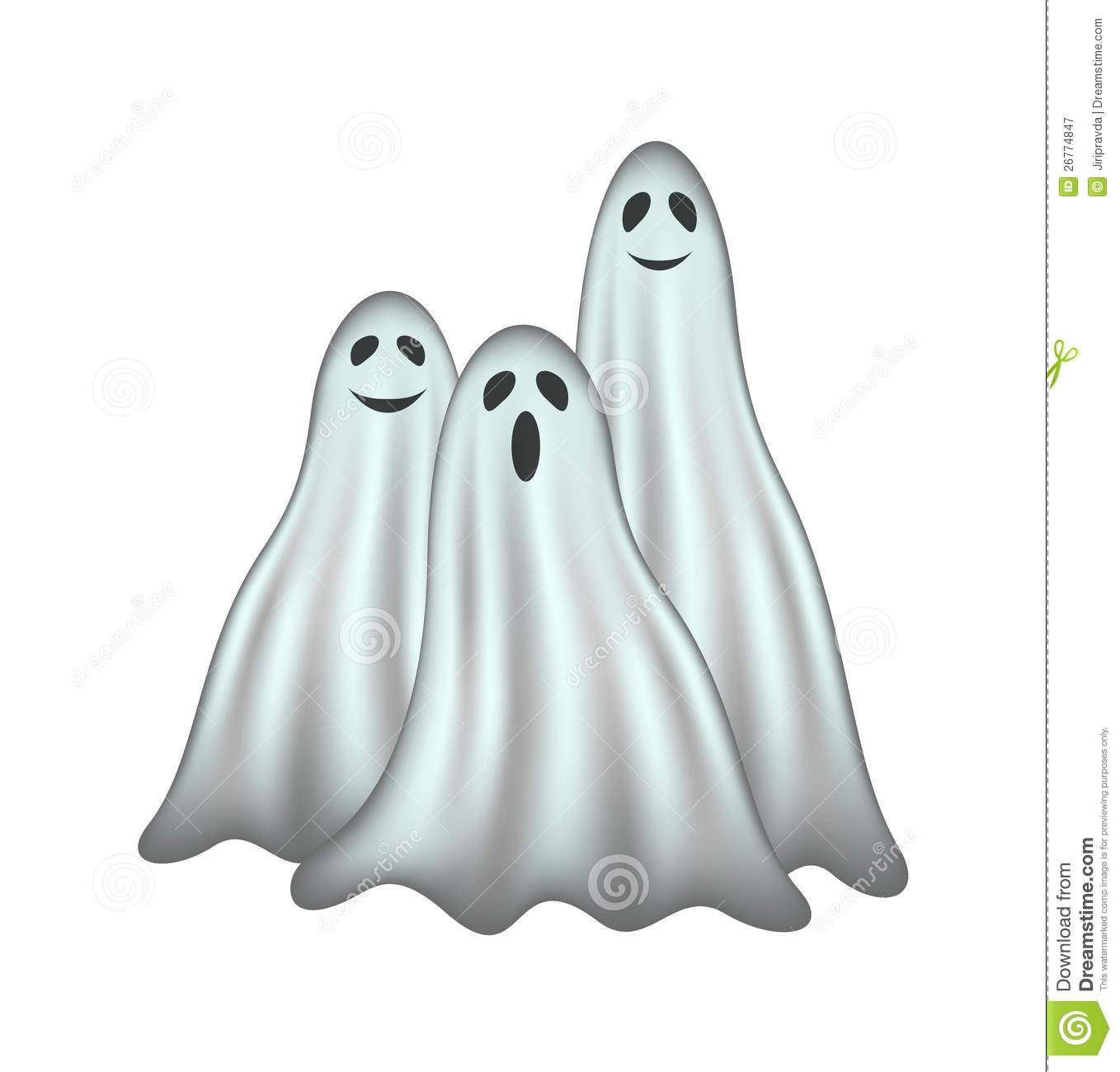 Three Ghosts Royalty Free Stock Photography Image 26774847
