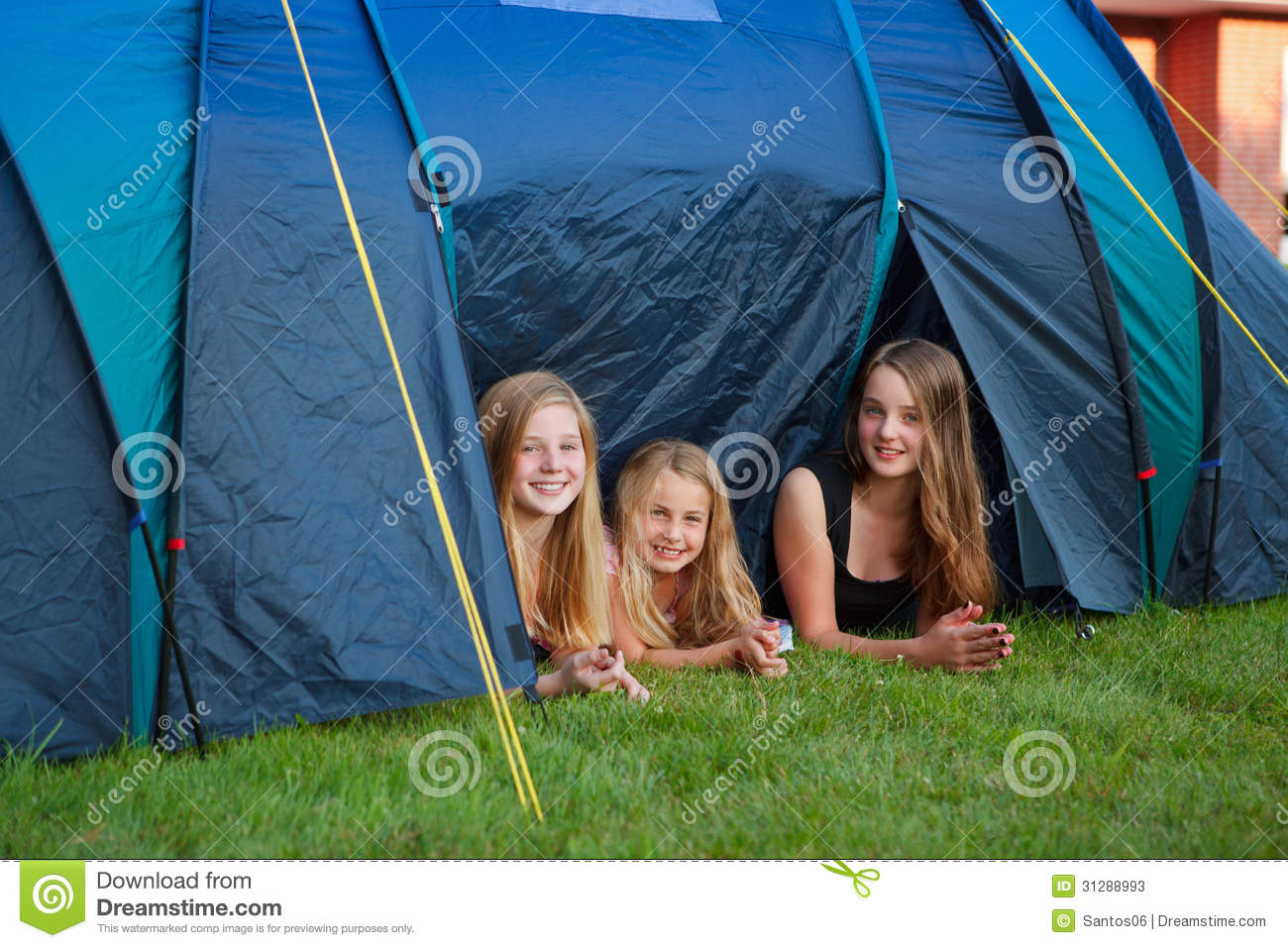 Three girls c&ing  sc 1 st  Dreamstime.com & Three girls camping stock image. Image of nature green - 31288993