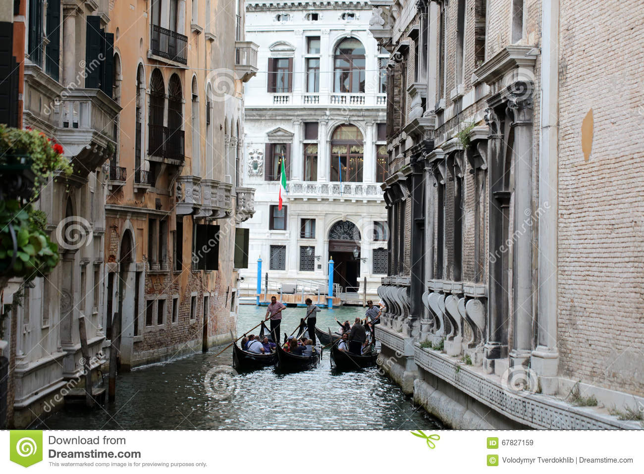 Amazing View On Venice Canal From A Balcony Editorial ...