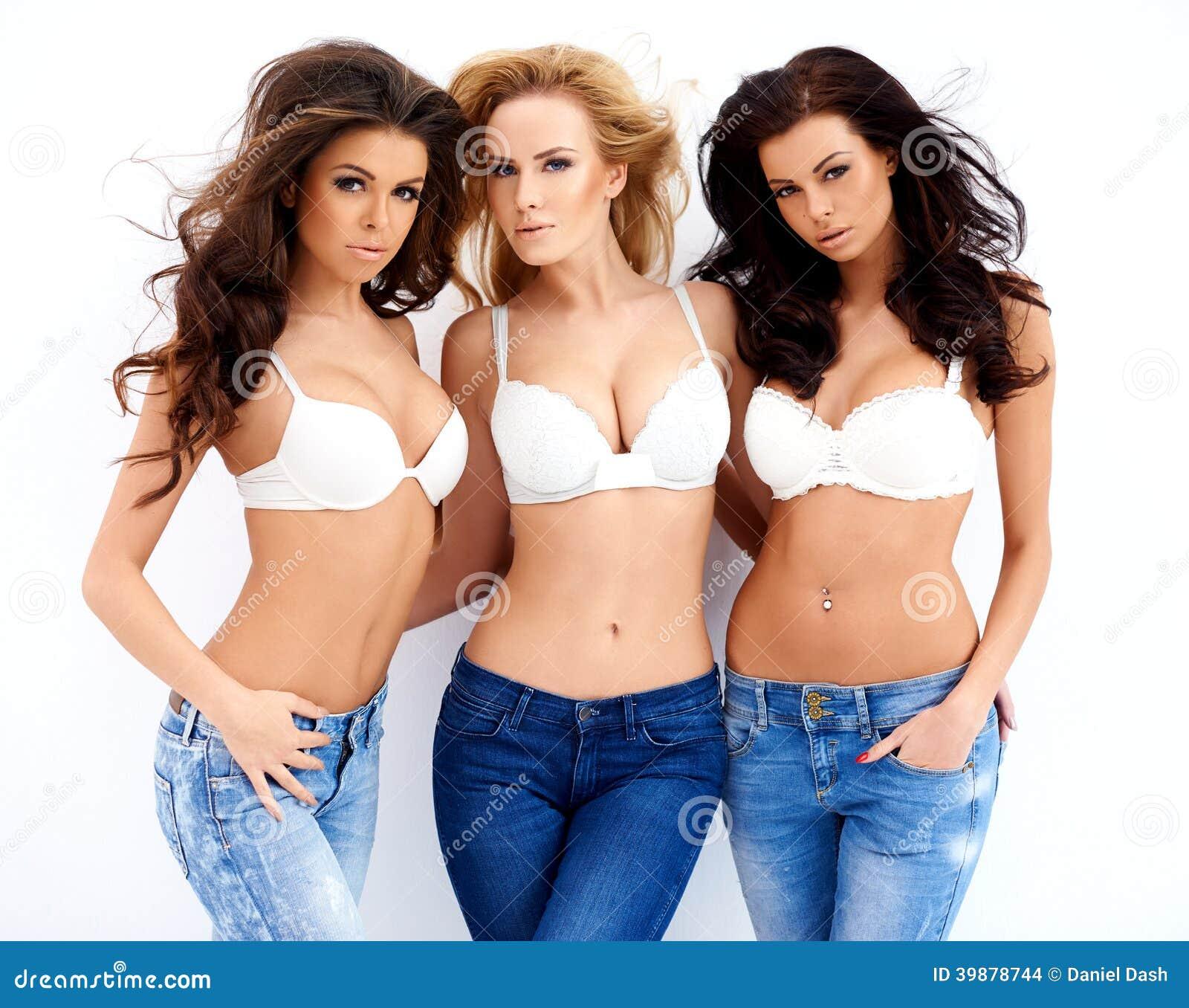 Three gorgeous young women