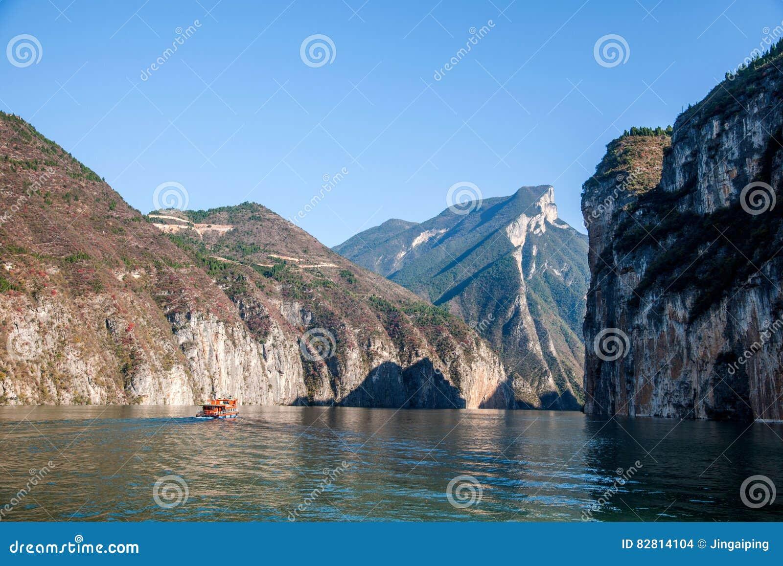 Three Gorges ущелья Рекы Янцзы Qutangxia
