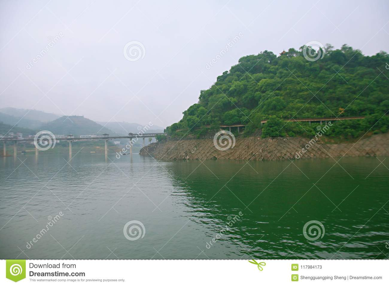 The Three Gorges of the Yangtze River