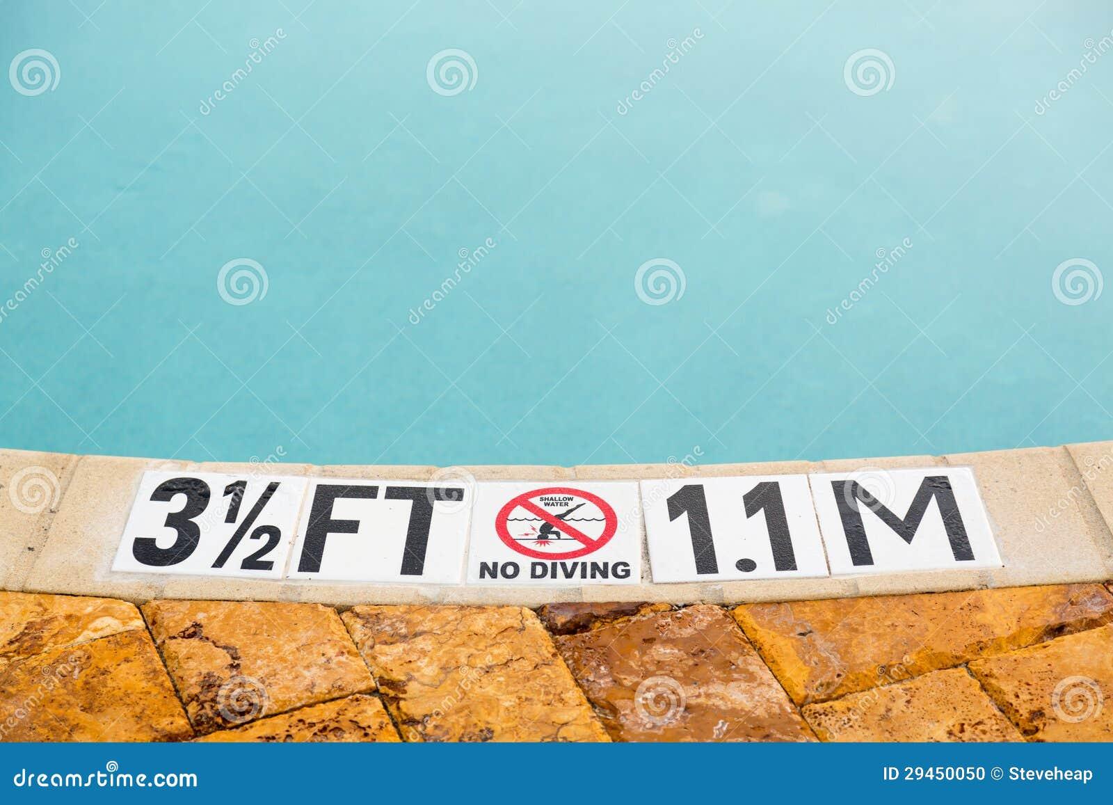 Three Half Feet Marking On Swimming Pool Depth Stock Photo Image 29450050