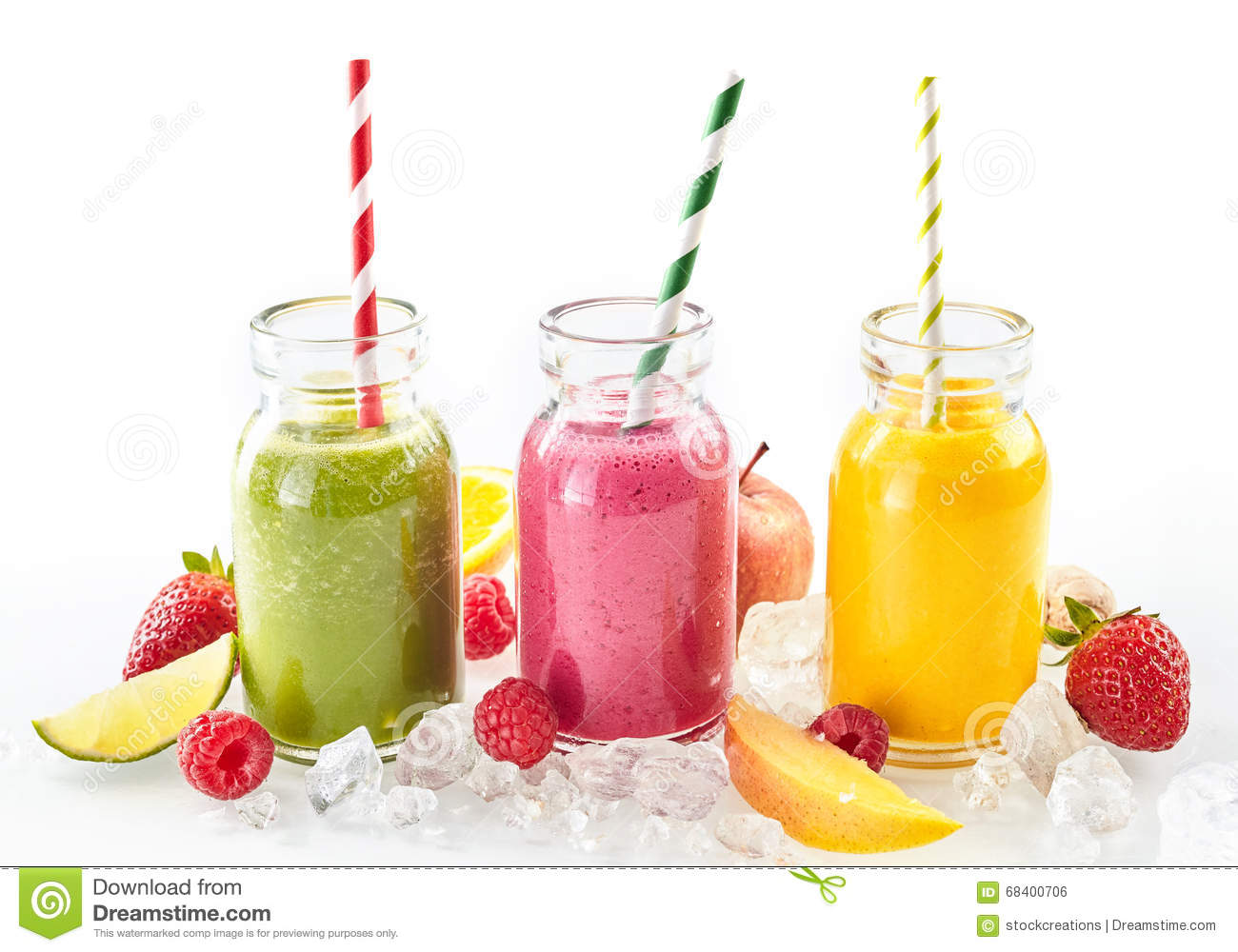 ingredients for healthy fruit smoothies tropical fruit