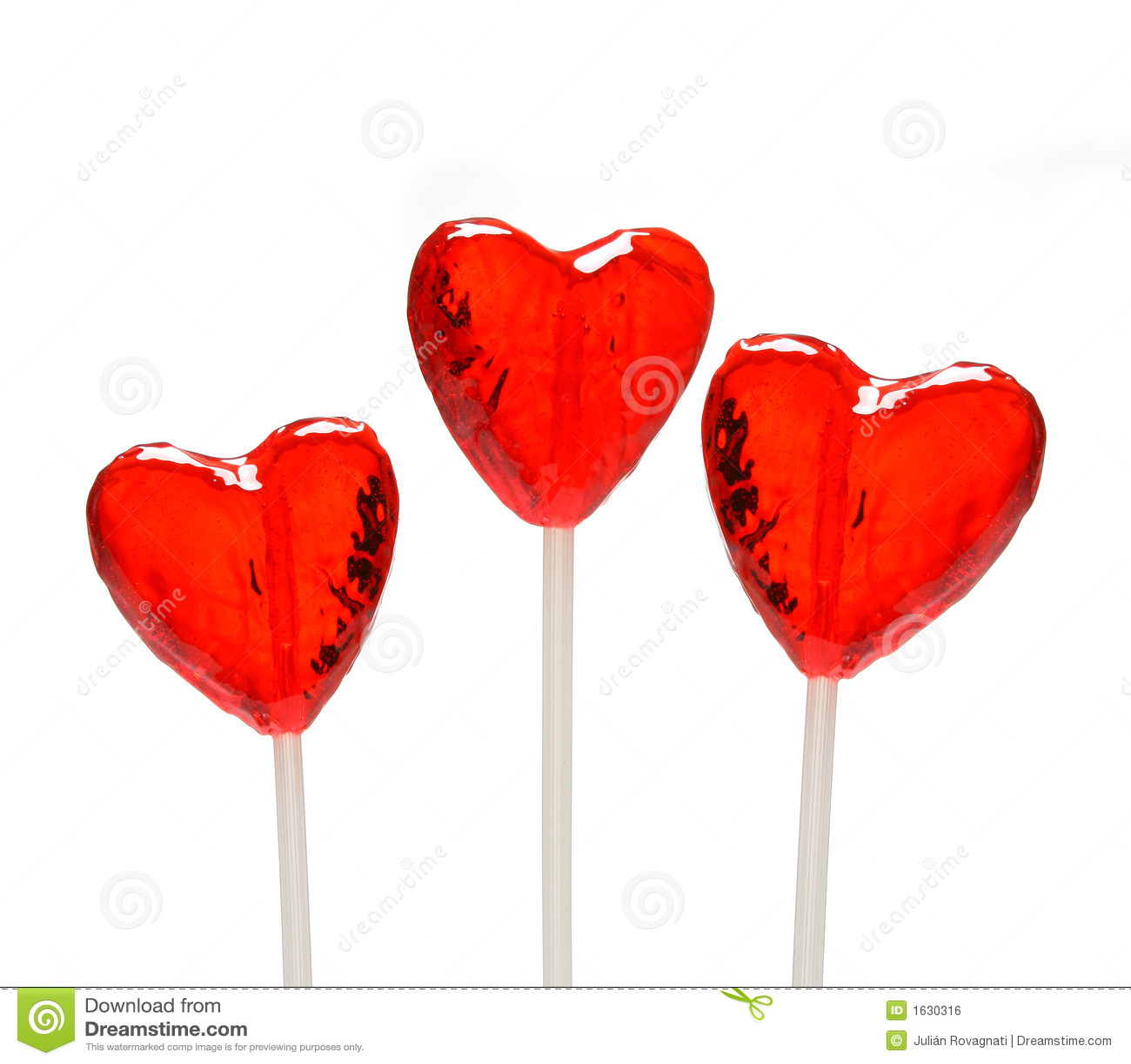 three heart shaped lollipops for valentine - Valentine Lollipops