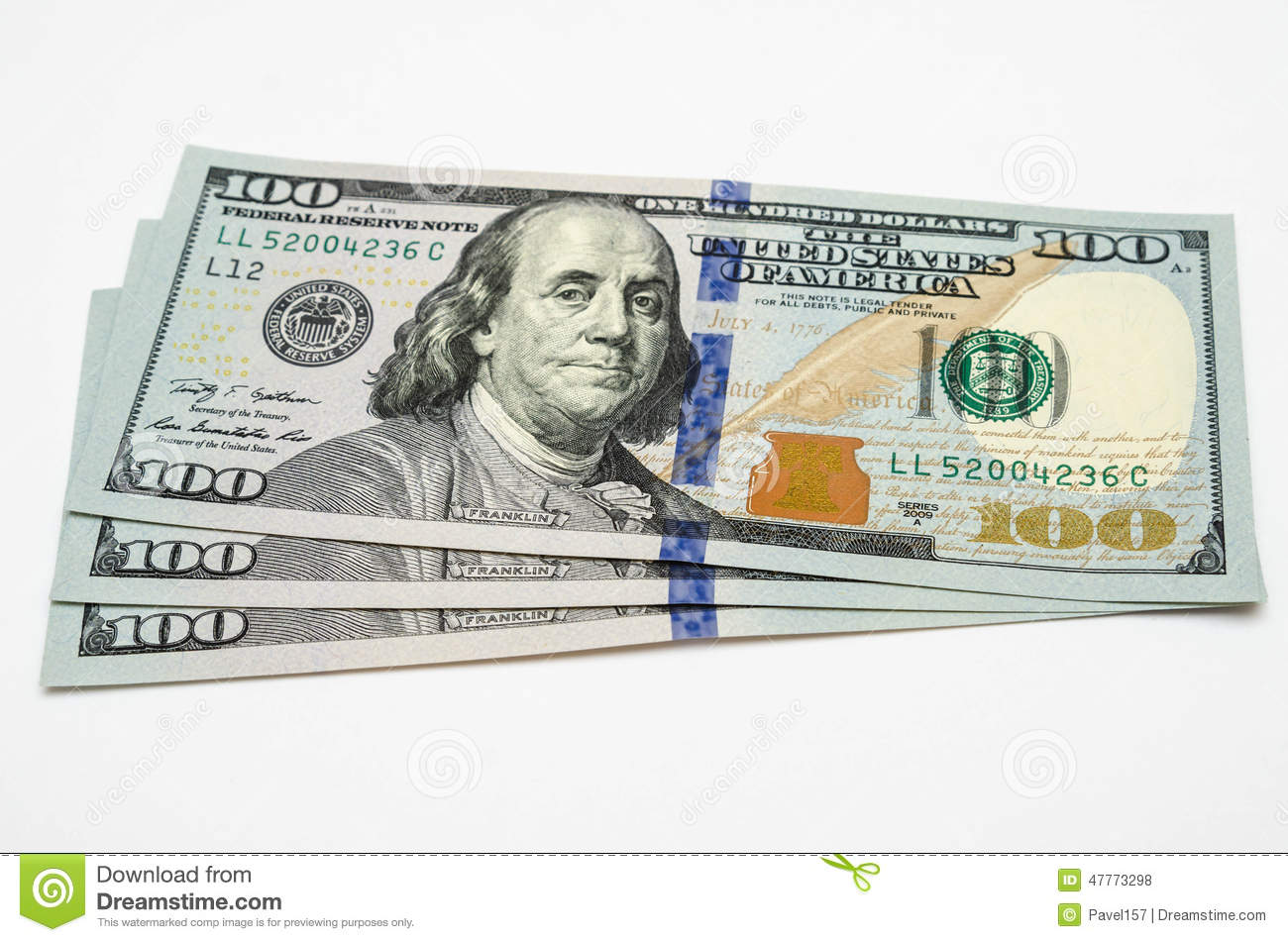 three hundred dollars  Three Hundred Dollars Of The USA Stock Photo - Image of cash, roof ...