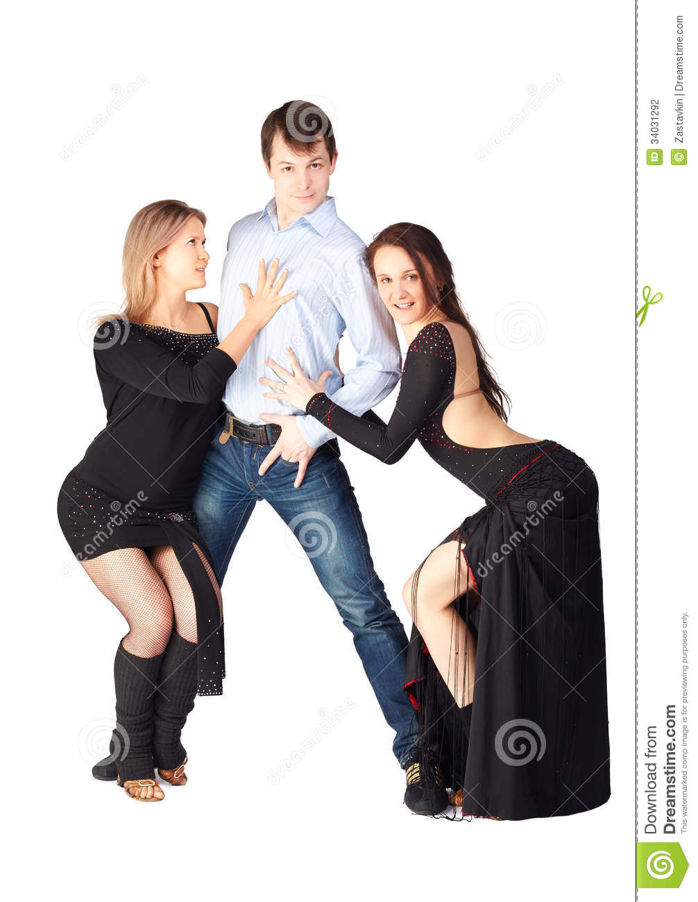 Three Hustle Dancers Stock Photography - Image 34031292-8090