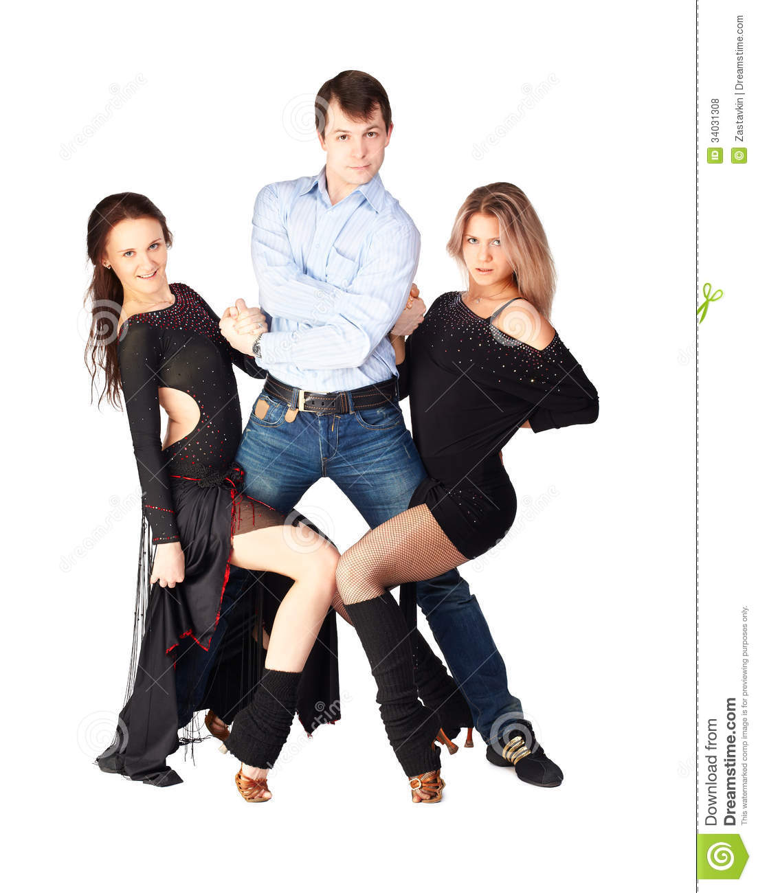 Three Hustle Dancers Royalty Free Stock Photos - Image -5775