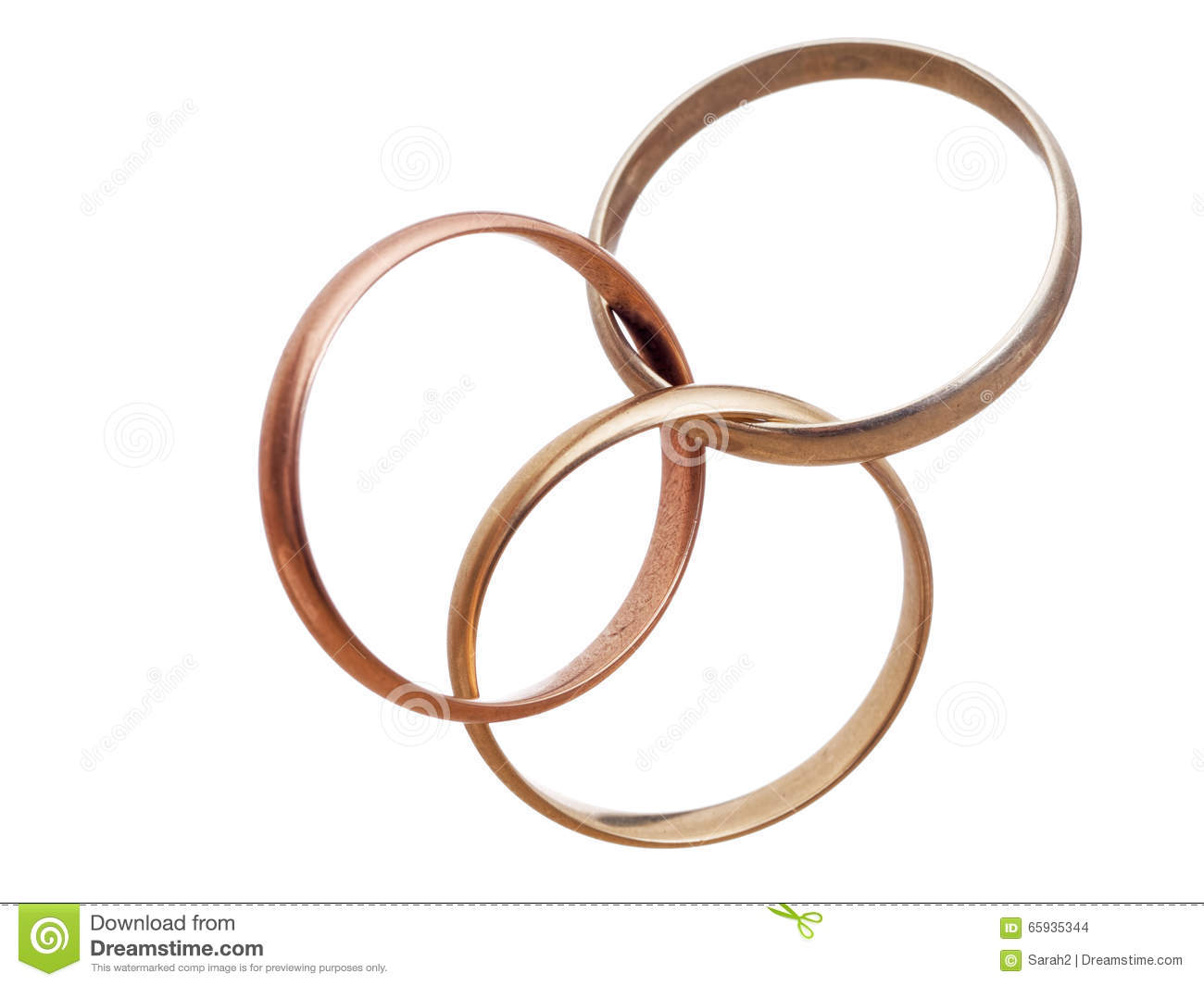 three interlocking wedding rings modern marriage bigamy stock images - Interlocking Wedding Rings
