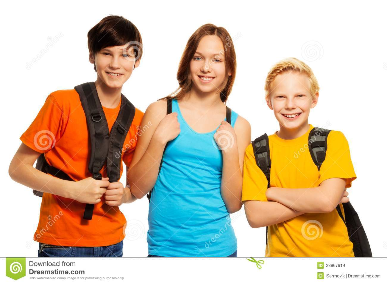Kids With Backpacks Royalty Free Stock Images - Image: 2952449
