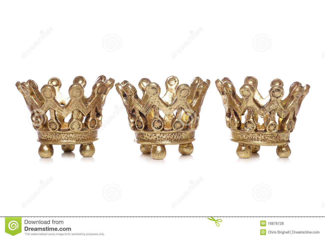 Three King Crowns Christmas Decoration Royalty Free Stock ...