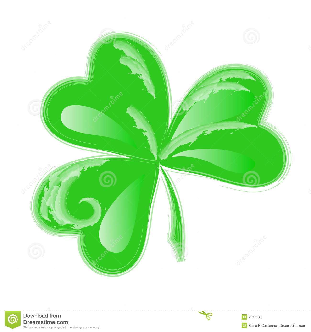 Three Leaf Clover Vector Royalty Free Stock Images - Image: 2013249
