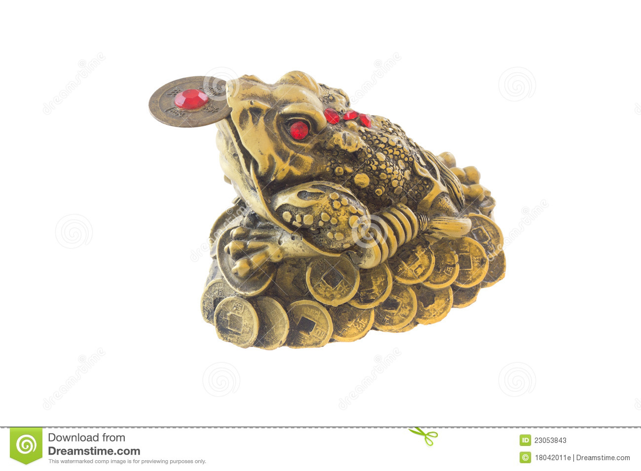 three legged frog feng shui symbol stock photos image 23053843. Black Bedroom Furniture Sets. Home Design Ideas