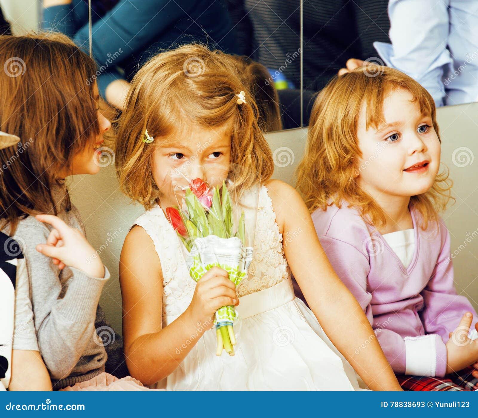 Diverse Little Kids First Kiss Stock Photo  Cartoondealercom 22889562-7250