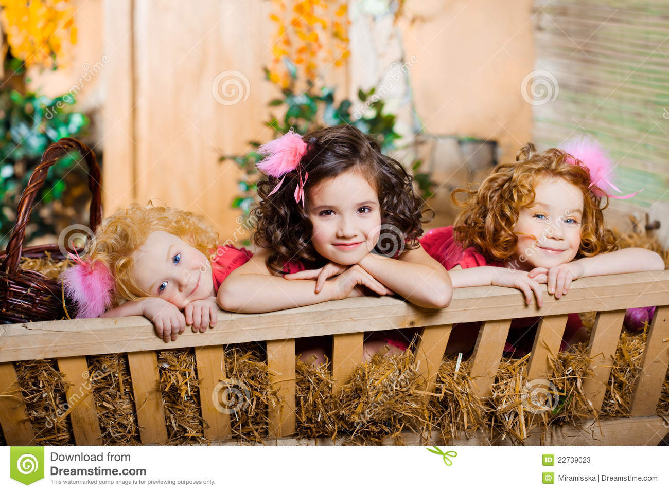 three little girls, cute kids stock image - image of face, children