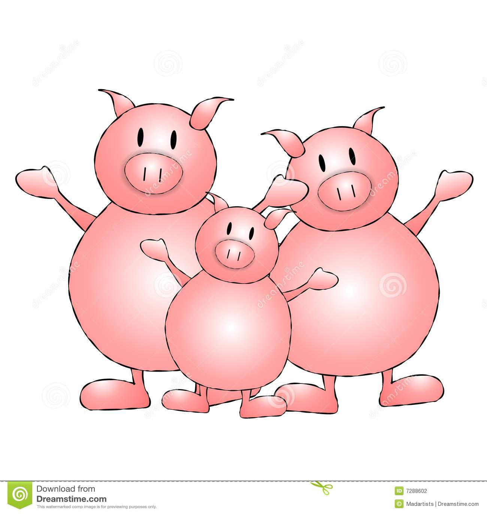 Three Little Pigs Cartoon Stock Photography - Image: 7288602