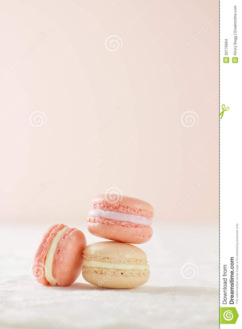 pronounced macaroon, a popular buttercream filled meringue type cookie ...