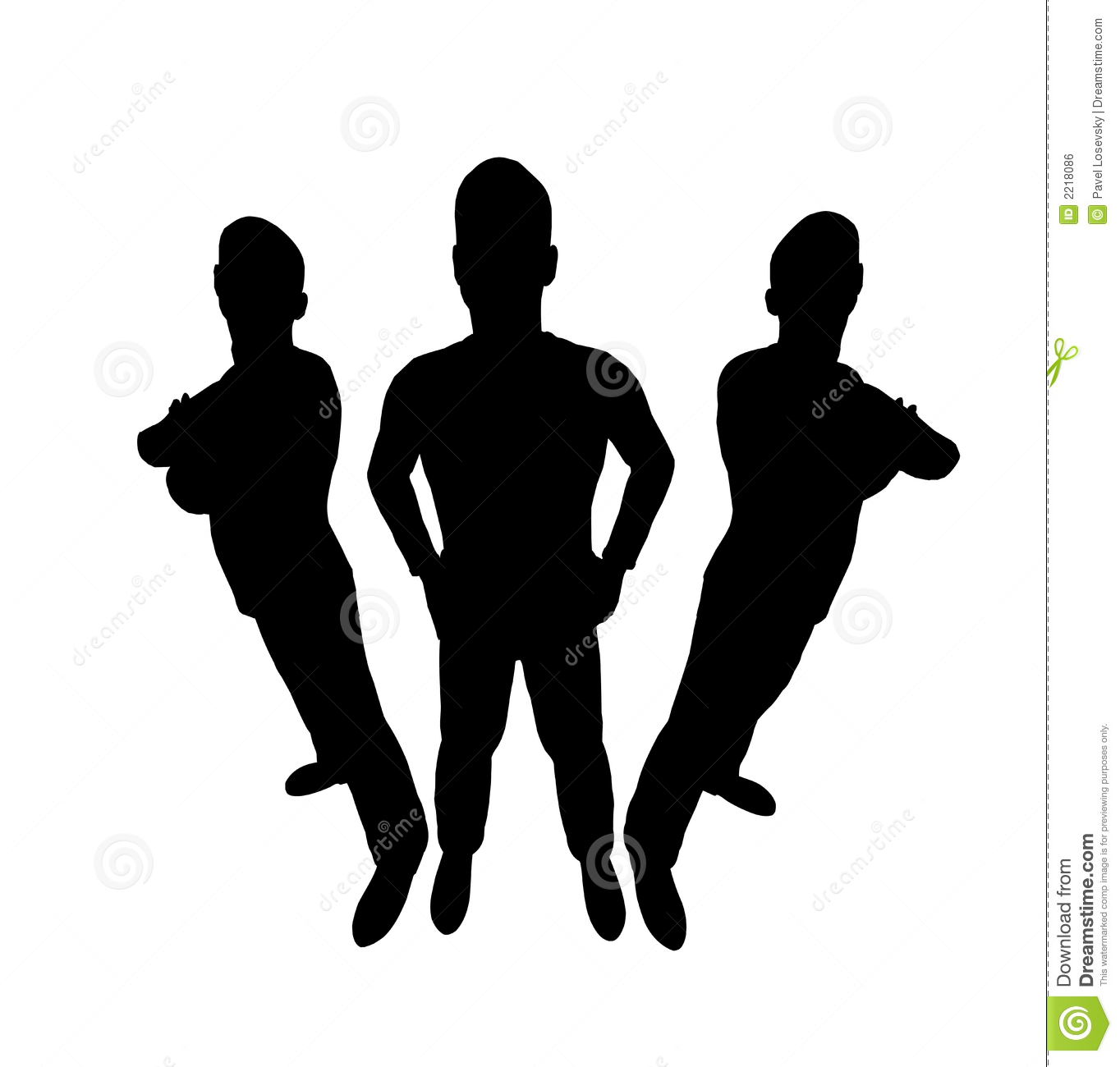 Three Men Silhouette Royalty Free Stock Image - Image: 2218086
