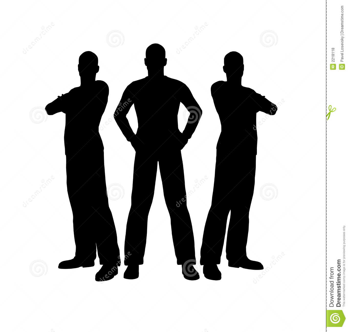 Three Men Silhouette Royalty Free Stock Photos - Image: 2218118