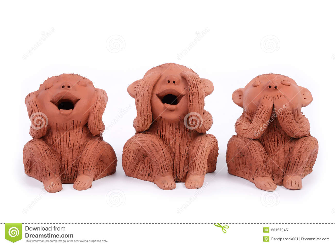 Three monkeys. One closed his ears, one closed his eyes and ontherone ...