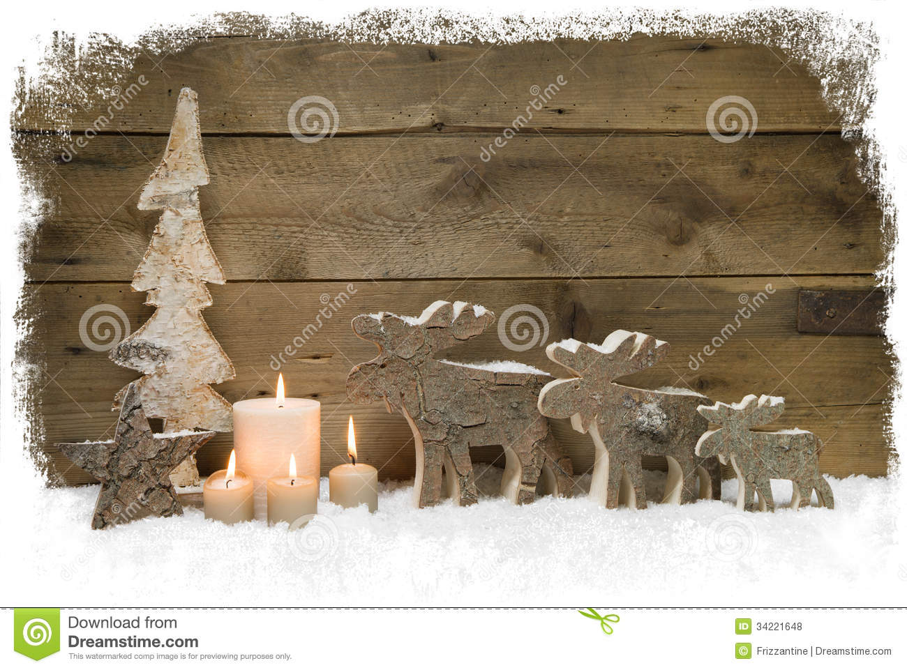 three mooses wearing santa hats on grey wooden background. Black Bedroom Furniture Sets. Home Design Ideas